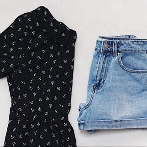 Black and White Anchor Blouse from Forever 21